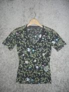 Jaker 57 KAREN MILLEN floral black ladies top