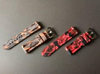 24mm Orange&Red CAMO Watch Strap OFFICINEPANERAI