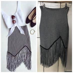 Preloved Fringe Skirt