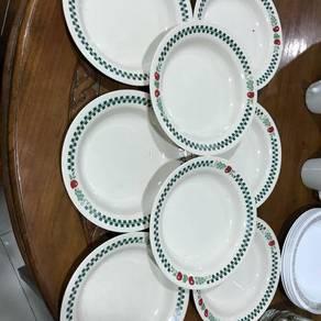 Corelle pyrex corning soup plate
