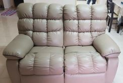 Leather-made sofa 3+2 recliner