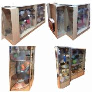 Glass Display Cabinets Shelf Rack