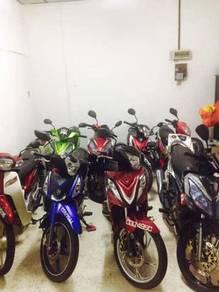 Membeli motorsikal terpakai cash ready