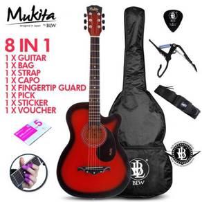 Mukita 38C Gitar Akustik - 8 In 1/Red