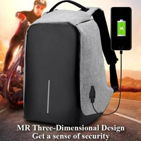 Brand New Anti-Theft Multi Function Grey Backpack