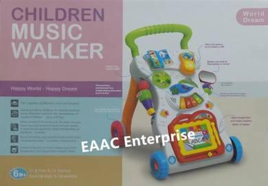 Huanger 2 in 1 Baby Music Walker Stroller