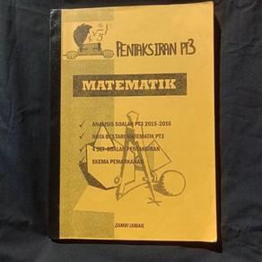 Buku latihan PT3 Matematik Zamri Ismail