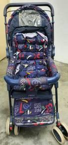 Baby Stroller Folding Carrier 6 Wheels Suspension