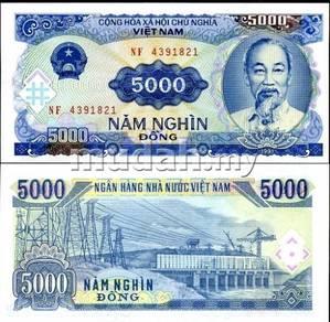 Vietnam 5,000 dong 1991 p 108 unc