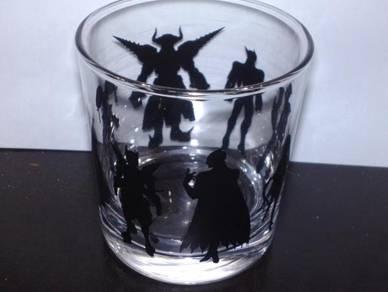 Cawan superheroes glass cup