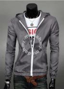 Classic Junior Hooded Sweater Thin Jacket (Grey)