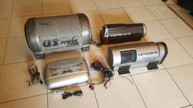 Kenwood Carrozzeria JVC Sub Woofer Builtin Amp JDM