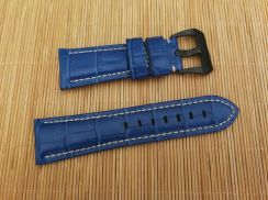 PANERAI 26 mm Blue Crocodile Leather Watch Strap