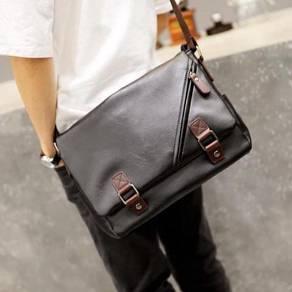 Men PU Leather Shoulder Messenger Bag 1 (Black)