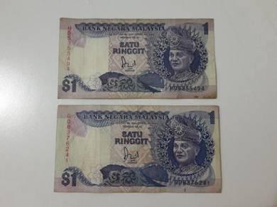 Duit kertas lama RM1