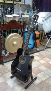 Gitar Akustik Hitam Res
