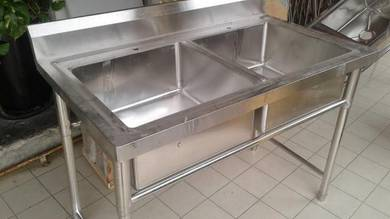 4FT 2 Station Stainless Steel Sink TG870