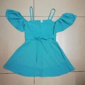 Turquoise Cold Shoulder Dress
