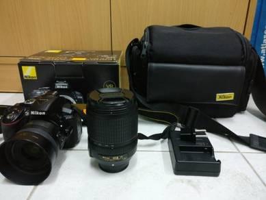 Nikon D5300 with 18-140mm & 35mm portrait lens