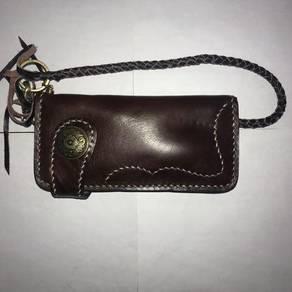 Custom Red Moon Long Wallet