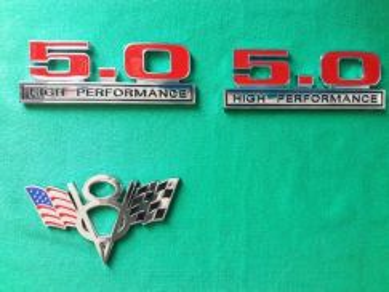 Mustang 5.0 high performance n V8 emblem new