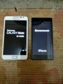 Samsung note 1 lenovo vibe p1m