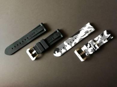 24mm Black&White CAMO Watch Strap OFFICINEPANERAI