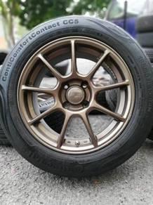 Ze40 15 inch sports rim myvi tyre 70%