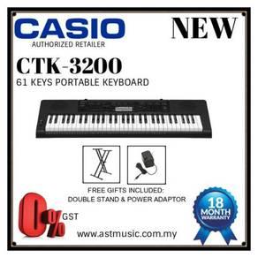 Casio CTK 3200 ctk3200 61 Keys Keyboard Package B