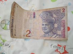 2Rinngit malaysia old duit money.