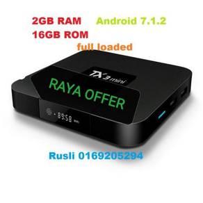 New TX3 Mini Free Channel 2GB+16GB Android TV BOX