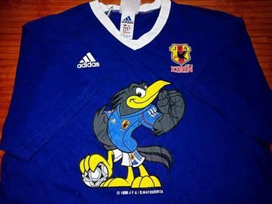 Vintage ADIDAS KIRIN JAPAN 1998 V-Neck Shirts
