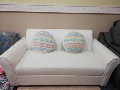 Sofa white two to three seater