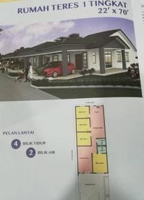 Rumah Baru Teres 1 Tingkat Untuk Di jual/ Krubong Melaka