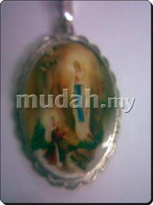 ABPSM-C007 Silver Enamel Pendant Necklace Catholic