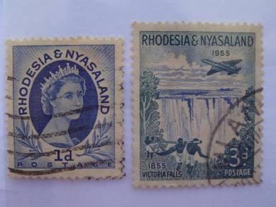 1954-55 Rhodesia & Nyasaland Stamps - Used