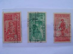 1936 New Zealand Anzac Issue Stamps Lot#1 - Used