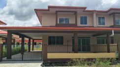 Double Storey Semi Detached House with Balcony For Sale,Sarikei