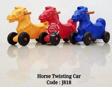 Horse twisting car