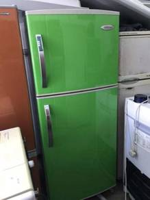 Green 2 Pintu Fridge Singer Refrigerator Freezer