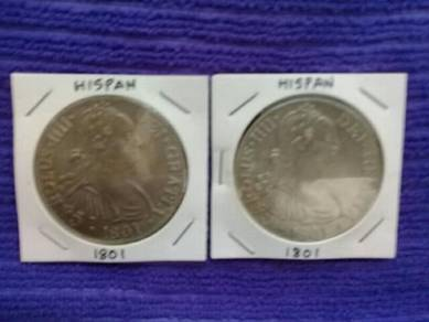 119 duit lama syiling Hispan old coin 1801