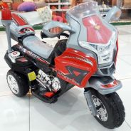 Children police baby big bike Kids Black red).,;[]