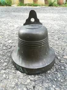 Ber1 Antique School Bell Loceng Tembaga Antik