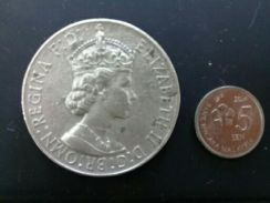 119 Antik pingat medal silver queen elizabeth 1960