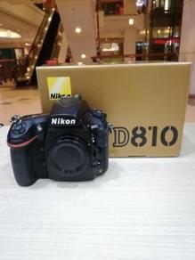 Nikon d810 body (sc 8k only) 99.9% new