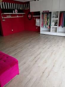 Vinyl Floor Lantai Timber Laminate PVC Floor Q235
