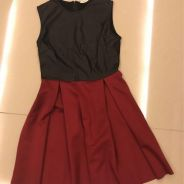 Black and Wine red dress