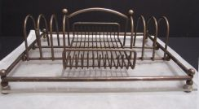 Vintage Metal and Glass Rack