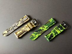 24mm Yellow&Green CAMO Watch Strap OFFICIEPANERAI