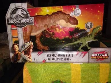 Jurassic world fallen kingdom T-rex & Monolophosau